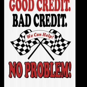 good credit bad credit sign