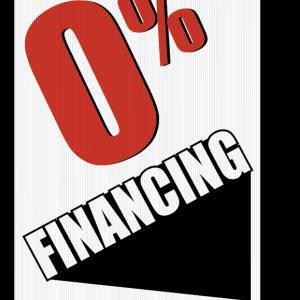 0 financing sign
