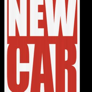 new car sign