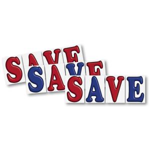 3d save sign