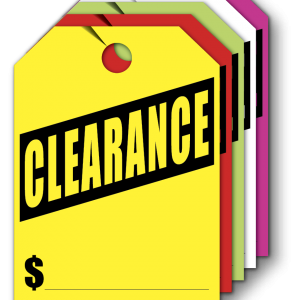 clearance hang tags