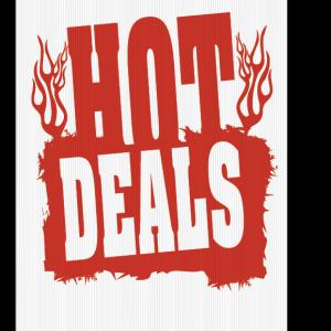 hot deals sign