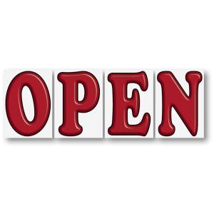 open sign 3d