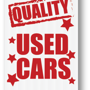 quality used cars sign