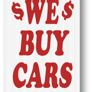 we buy cars sign